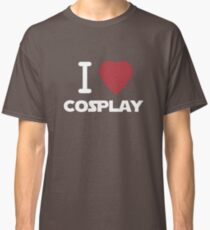 I Heart Cosplay White Text   (Clothing & Stickers)  Classic T-Shirt