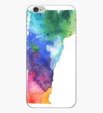 Watercolor Map of Vermont, USA in Rainbow Colors  iPhone Case