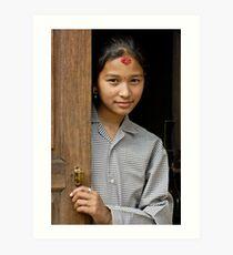 Nepali girl Art Print