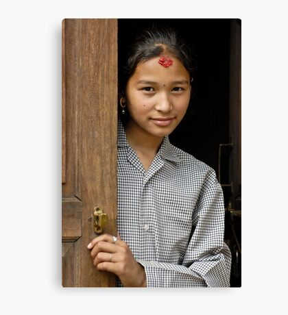 Nepali girl Canvas Print