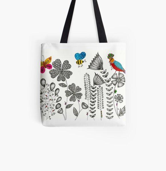 Flower Garden 2 All Over Print Tote Bag