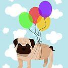 Pug in the sky by Prettyinpinks