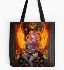 Burning Angel Pin Up Tote Bag