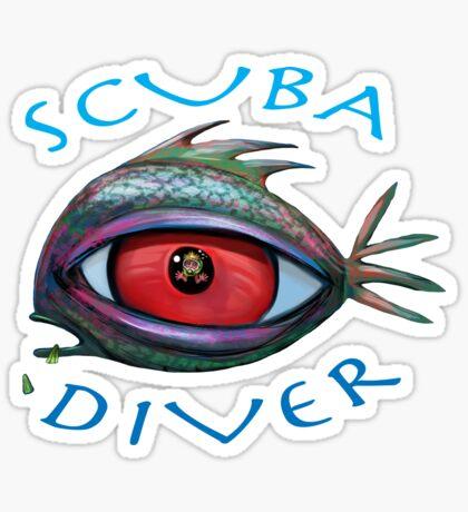 SCUBA Diver Sticker