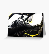 The Cockpit of an Aventador Super Veloce  Greeting Card