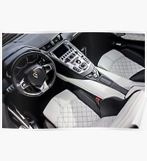 Q-Citura Leather in the Aventador Cockpit Poster