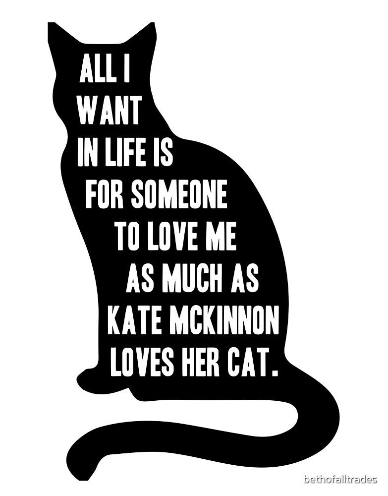 Kate McKinnon Loves Cats by bethofalltrades