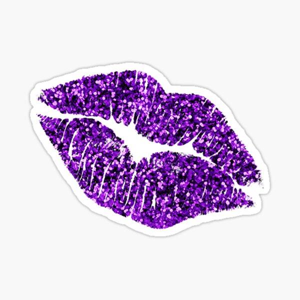 Glitter Lips : Purple! Sticker