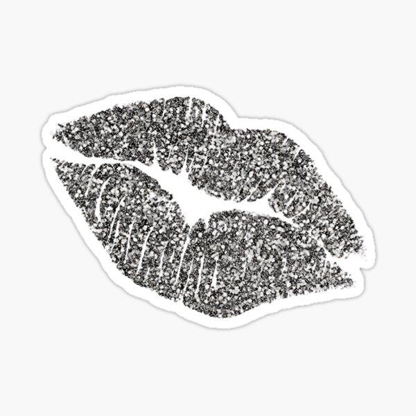 Glitter Lips : Silver! Sticker
