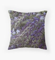 wisteria blooming Throw Pillow