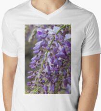 wisteria blooming Men's V-Neck T-Shirt