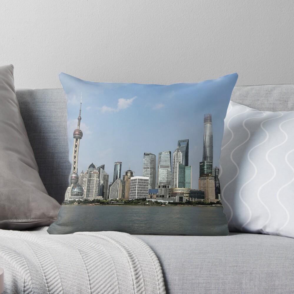Horizonte de Shanghai Cojín