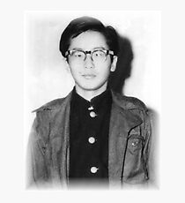 Japanese Hero - Otoya Yamaguchi Photographic Print