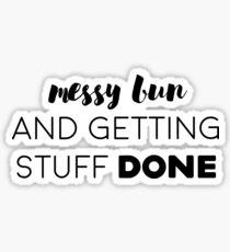 Messy bun Sticker