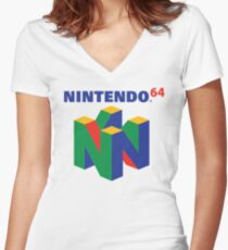 Nintendo 64 Logo  Women's Fitted V-Neck T-Shirt