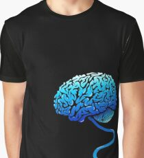 Your Brain without Coffee - Blue Graphic T-Shirt