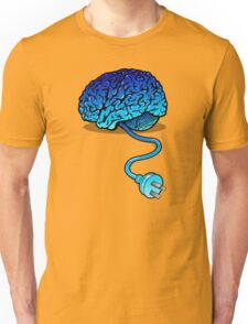 Your Brain without Coffee - Blue Unisex T-Shirt