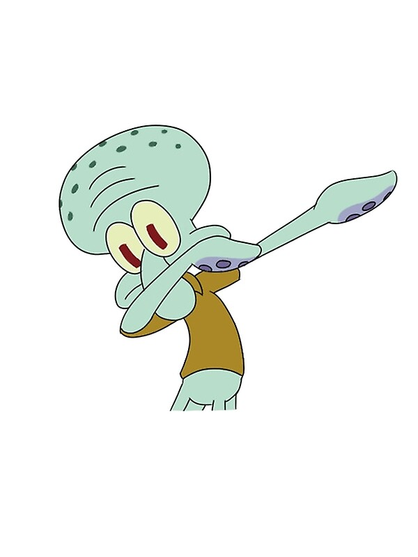 Squidward Dab Art Print By Jayesus Redbubble