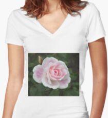 Blushing Pink Iceberg Women's Fitted V-Neck T-Shirt