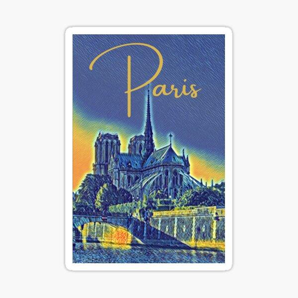 Paris Sunset Sticker