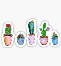 Watercolour Cacti Sticker