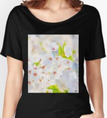 White Blossoms Women's Relaxed Fit T-Shirt