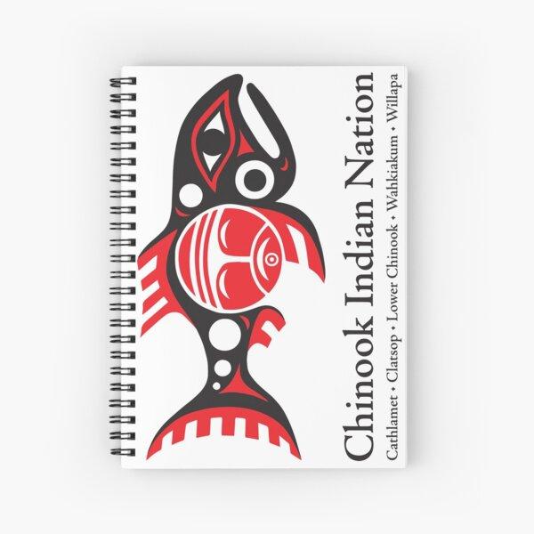 Chinook Indian Nation Tribal Logo, vertical Spiral Notebook