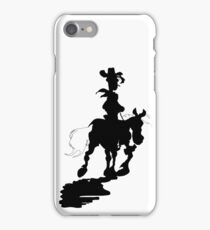 Lucky Luke Silhouette iPhone Case/Skin