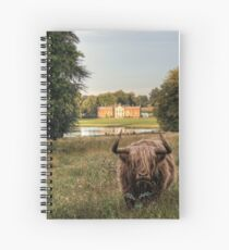 Highland Cow at Avington Park, Hampshire Spiral Notebook