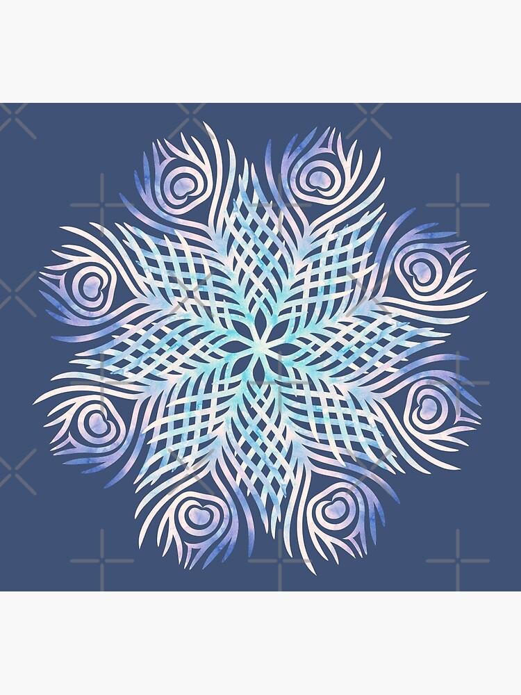 Peacock feathers / Mandala by byOli