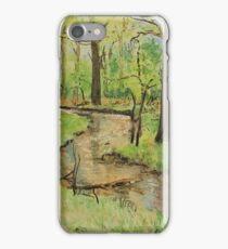 Original Watercolour Painting New Forest Stream,Flechs Water, Dorset, England  iPhone Case/Skin