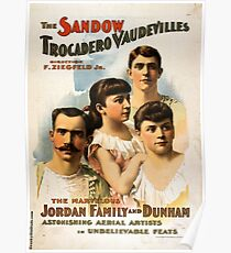 The Sandow Trocadero Vaudevilles 2 - Strobridge - 1894 Poster