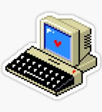 Cool computer love Sticker