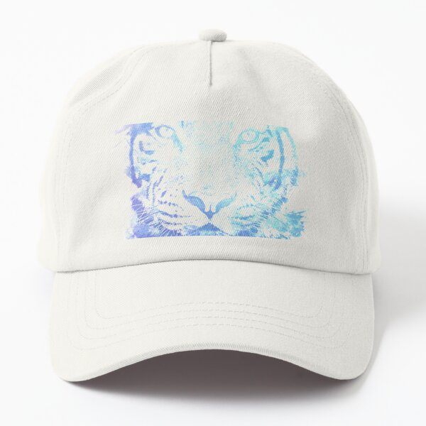 Abstract Watercolor Tiger Portrait / Face Dad Hat