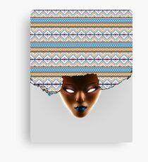 AFRO_Orange & Blue Canvas Print
