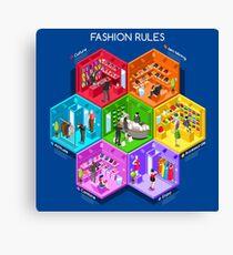 Fashion Cells Isometric Canvas Print