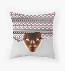 AFRO_RED Throw Pillow