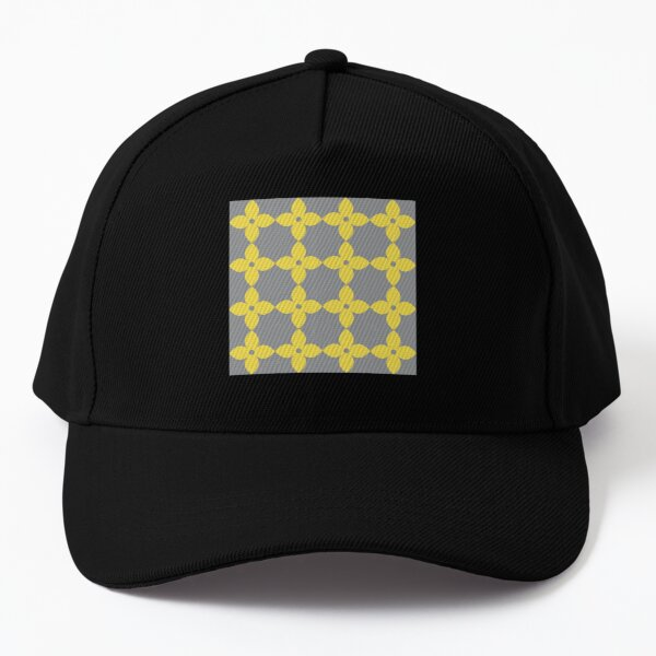 Illuminating yellow and Ultimate Gray Flower Minimal Pattern Baseball Cap