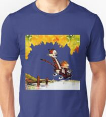 Play on lake Calvin and Hobbes T-Shirt
