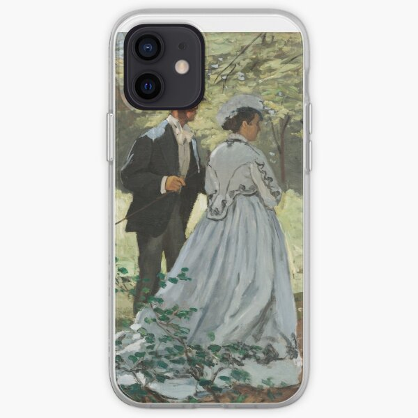 Bazille and Camille (1865) by Claude Monet. iPhone Soft Case
