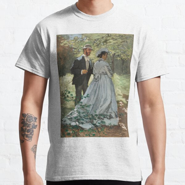 Bazille and Camille (1865) by Claude Monet. Classic T-Shirt
