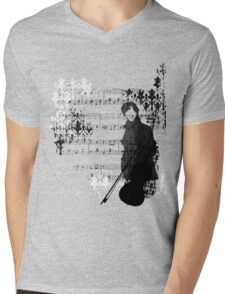 Sherlocked Melody Mens V-Neck T-Shirt