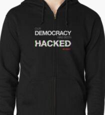 hacked Zipped Hoodie