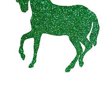 Green Holo Glitter Unicorn by Lilxpie