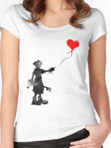 the boy,the key,the balloon Women's Fitted Scoop T-Shirt