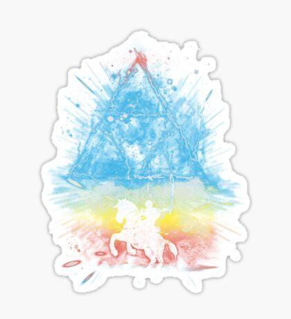 triforce storm-rainbow version Sticker
