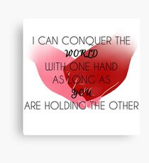 Hold Hands Canvas Print
