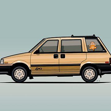 Nissan Stanza / Prairie 4wd Wagon Gold by monkeycom