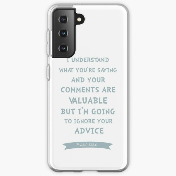 Roald Dahl - Funny quote from Fabulous Mr Fox  Samsung Galaxy Soft Case