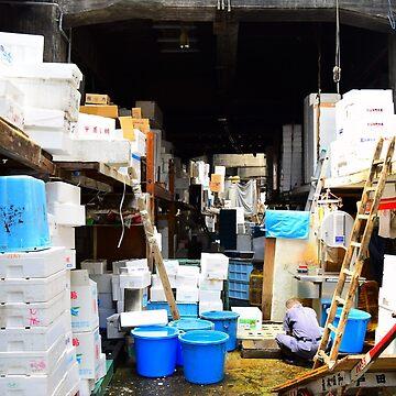 Tsukiji Market - Hallways by CWspatula